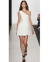 BCBGMAXAZRIA - White Bcbgmaxazria Runway One Shoulder Dress - Lyst
