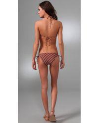 Brette Sandler Swimwear | Red Gina Striped Triangle Bikini | Lyst
