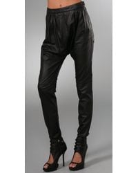 By Malene Birger | Black Chicoree Leather Harem Pants | Lyst