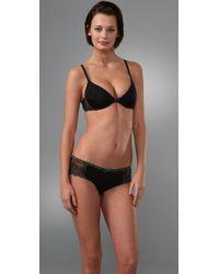 Calvin Klein | Black 365 Pretty Scoop Neck Push Up Bra | Lyst