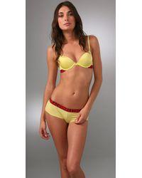Calvin Klein | Yellow X Micro Push Up Bra | Lyst