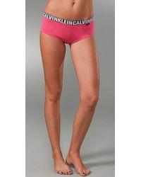 Calvin Klein | Pink X Cotton Cheeky Shorts | Lyst