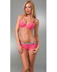 Calvin Klein - Pink X Cotton T Shirt Bra - Lyst