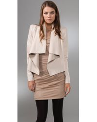 Camilla & Marc White Adora Leather Blazer