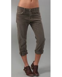 Current/Elliott | Natural The Corduroy Boyfriend Pants | Lyst