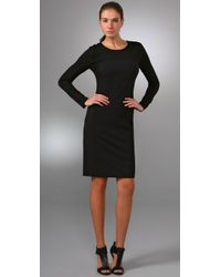 DKNY | Black Long Sleeve T-shirt Dress | Lyst