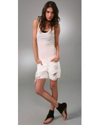 Enza Costa - Natural Ribbed Bball Tank in Nude - Lyst
