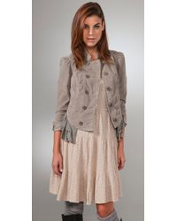Free People | Natural Cord Victorian Riding Jacket | Lyst