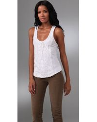 Free People | White Sparrow Crochet Top | Lyst