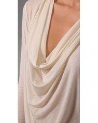 Graham & Spencer - Natural Long Sleeve Cowl Neck Top - Lyst