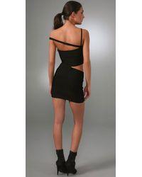 Hervé Léger Black Vivien Cutout Bandage Dress