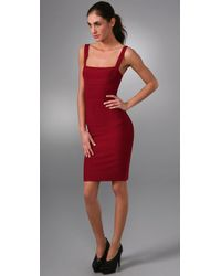 Hervé Léger | Lady in Red Bandage Cocktail Dress | Lyst