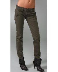 Hudson Jeans | Green Skinny Chino Pants | Lyst