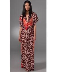 Issa | Purple Long Kimono Dress | Lyst