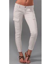 J Brand   White Houlihan Skinny Cargo Pants   Lyst