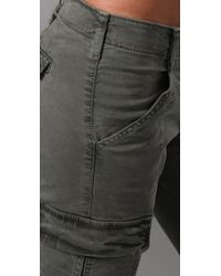 J Brand - Green Cotton Houlihan Shorts - Lyst