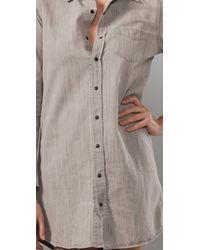 Joe's Jeans - Gray The Shirt Sexy Pocket Dress - Lyst