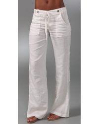 Joie | White Major Linen Pants | Lyst
