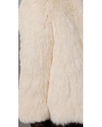 Joie White Spence Rabbit Fur Jacket