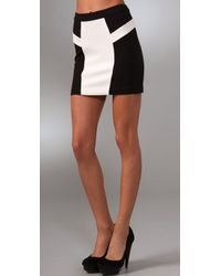 L.A.M.B. | Black Colorblock Miniskirt | Lyst