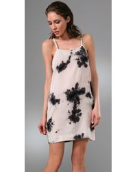 Leyendecker | White Cami Dress with Cutout | Lyst