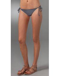 L*Space - Gray Super Fly Bikini Bottoms - Lyst