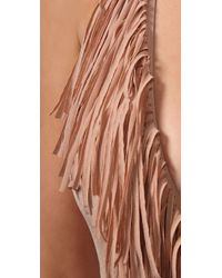 L*Space | Natural Stardust Solid Fringe One Piece | Lyst