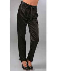 Marc By Marc Jacobs | Black Viola Satin Pants | Lyst