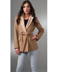 Marc By Marc Jacobs - Natural Camel Hair Double Breasted Coat - Lyst