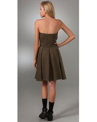 Marc By Marc Jacobs - Green Fatigue Twill Dress - Lyst