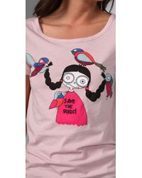 Marc By Marc Jacobs | Pink Miss Marc Saves The Birds Tee | Lyst