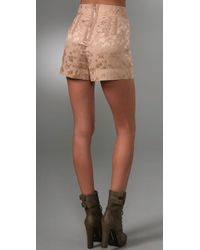Marc By Marc Jacobs | Brown Inez Jacquard Shorts | Lyst