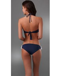 Melissa Odabash Blue Luxor Bandeau Bikini