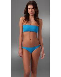 Mikoh Swimwear - Blue Capri Basic Skimpy Bikini Bottoms - Lyst