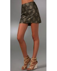 MILLY | Black Classic Miniskirt | Lyst