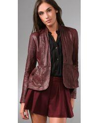 Nanette Lepore - Purple Hush Hush Leather Jacket - Lyst
