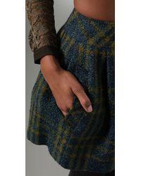 Nanette Lepore | Blue Poet Mini Skirt | Lyst