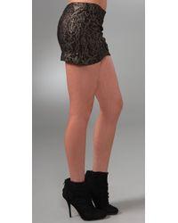 Nightcap - Black Lace Mini Skirt - Lyst
