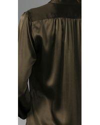 Nili Lotan - Green Tuxedo Dress - Lyst
