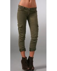 PAIGE | Green Maternity Layne Cargo | Lyst