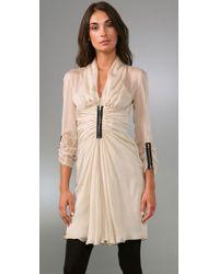Philosophy di Alberta Ferretti - Metallic Zipper Front Dress - Lyst