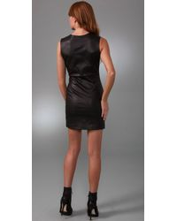 Porter Grey - Black Sleeveless Leather Dress - Lyst