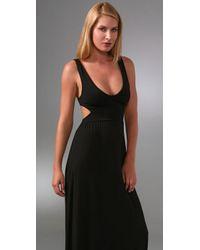 Rachel Pally - Black Long Cutout Dress - Lyst