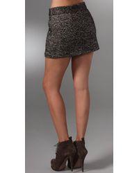 Rebecca Minkoff - Gray Colette Zipper Skirt - Lyst