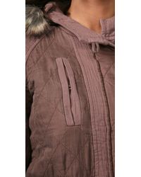 Rebecca Taylor | Natural Parka with Faux Fur | Lyst
