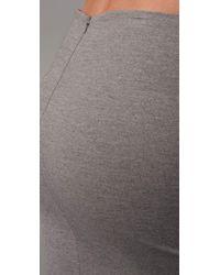 Robert Rodriguez   Gray Twisted Ponte Skirt   Lyst