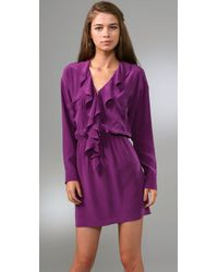Rory Beca - Purple Claudia Ruffle Dress - Lyst
