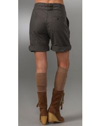 See By Chloé Gray Wool Flannel Shorts