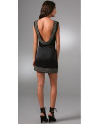 Sheri Bodell | Black Metal Beaded Low Back Dress | Lyst