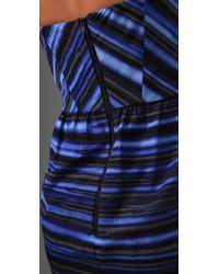 Shoshanna | Blue Midnight Tie Dye Stripe Tulip Dress | Lyst